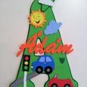 Dekorgumi gyerekszoba dekoráció névtábla járművekkel, Baba-mama-gyerek, Dekoráció, Gyerekszoba, Falmatrica, Mindenmás, Dekorgumi gyerekszoba dekoráció névtábla járművekkel A nagy betűn (név kezdőbetűje) középen helyezk..., Meska