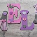 Bababetűk, nagyméretű betű, pillangós pink-szürke-lila, 6 betűs név (1200 Ft/betű), Gyerek & játék, Otthon & lakás, Gyerekszoba, Dekoráció, Baba falikép, Mindenmás, Bababetűk, nagyméretű név, pillangós pink-szürke-lila, 6 betűs név (1200 Ft/betű)  A betűk mérete: ..., Meska