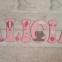 Bababetűk, zsiráf-elefánt-víziló, pink-szürke, 6 betűs név (1000 Ft/betű), Gyerek & játék, Otthon & lakás, Gyerekszoba, Dekoráció, Baba falikép, Mindenmás, Bababetűk, nagyméretű név, zsiráf-elefánt-víziló, pink-szürke, 6 betűs név (1000 Ft/betű)  A betűk ..., Meska