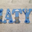 Bababetűk, macik, kék-szürke, 5 betűs név (1200 Ft/betű), Gyerek & játék, Otthon & lakás, Gyerekszoba, Dekoráció, Baba falikép, Falmatrica, Mindenmás, Bababetűk, nagyméretű név, macik, kék-szürke, 5 betűs név (1200 Ft/betű)  A betűk mérete: 20 cm mag..., Meska
