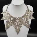 Zara nyaklánc, Ékszer, Nyaklánc, Ékszerkészítés, Valódi bőr ezüst színű kígyó bőr mintàs nyaklánc, 180x260 mm, állítható hosszúságú nikkelmentes lán..., Meska