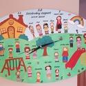 Giga tábla óraszerkezettel ballagásra, búcsúztatásra, Ballagás, Anyák napja, Dekoráció, Kép, Gravírozás, Festett tárgyak, Giga méretű tábla (30x40 cm) óraszerkezettel ballagásra, tanítónők, óvónénik, kollégák stb. búcsúzt..., Meska