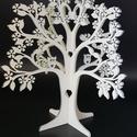 Baglyos ékszertartó fa, Dekoráció, Ékszer, Dísz, Ékszertartó, Baglyos ékszertartó fa fehér színre festve. Mérete: 25x29 cm. Napi inspirációk hatására ál..., Meska