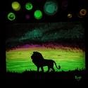 Im the king. - Sötétben világító egyedi akril festmény 30x40x0.2 cm, Képzőművészet, Otthon, lakberendezés, Festmény, Falikép, Festészet, Szeretnél egy különleges képet a falra? Akkor ismerd meg Sage Art képeit.  Különleges technikával k..., Meska