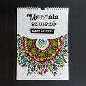Mandala színező 2020 falinaptár, A4 méretű falinaptár! Kreatív ajándék kicsin...