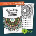 LETÖLTHETŐ 2020-as naptár, mandala színező (PDF), !!Ez a termék egy digitális PDF, NEM fizikai ter...