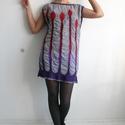 Indás selyem-nemez ruha, Ruha, divat, cipő, Női ruha, Selyem-nemez ruha, mely varrás nélkül készült, az ausztrál merinó gyapjú és a valódi herny..., Meska