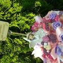 Ballagási dísz tündérkés, Dekoráció, Dísz, Csokor, Virágkötés, Ballagási dísz tündérkével,angyalkával. Rózsaszín,vagy egyébb színvilágban., Meska