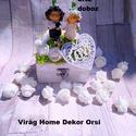 Esküvői dekor, Otthon, lakberendezés, Ajtódísz, kopogtató, Esküvői dekor. , Meska