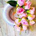 Ajtódísz több színben, Dekoráció, Dísz, Virágkötés, 23cm-es átmérővel.Művirágos ajtódísz, Meska