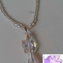 Swarovski angyal nyaklánc, Ékszer, Esküvő, Nyaklánc, Esküvői ékszer, Swarovski kristáy elemekből készült angyal gyöngyláncon.  Szép, igényes darab.  Angyal mére..., Meska