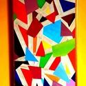 Színek játéka, Képzőművészet, Festmény, Akril, Napi festmény, kép, Festészet, Feszített vászonra különleges színárnyalatok használatával, akril festékkel készült ez a különleges..., Meska