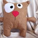 Crazy Teddy párna, Baba-mama-gyerek, Otthon, lakberendezés, Játék, Plüssállat, rongyjáték, , Meska