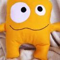 Sunshine Monster párna, Baba-mama-gyerek, Otthon, lakberendezés, Játék, Plüssállat, rongyjáték, , Meska