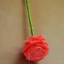 Örökcsokor- 10 db, Dekoráció, Esküvő, Ünnepi dekoráció, Esküvői dekoráció, Papírművészet, Saját kezűleg, rózsaszín krepp papírból készült gyönyörű rózsa. Esküvői dekorációnak is gyönyörű, d..., Meska