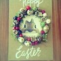 Húsvét, Dekoráció, Dísz, Ünnepi dekoráció, Húsvéti apróságok, Virágkötés, Egy A/4 méretű fára dolgoztam.Ezt díszítettem termésekkel különböző díszekkel.Akár kopogtatónak aká..., Meska