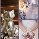 Winter things., Dekoráció, Ünnepi dekoráció, Karácsonyi, adventi apróságok, Karácsonyi dekoráció, Virágkötés, Ez az asztaldíszem egy 25 cm es alapra készült. Amit termésekkel,ezüst gömbökkel és kötött anyaggal..., Meska
