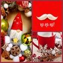 Love in snow!, Otthon, lakberendezés, Dekoráció, Ünnepi dekoráció, Karácsonyi, adventi apróságok, Virágkötés,  Az ajtódíszt a natúr termések és 1-2 színes termések teszik gyönyörűvé.Az ajtódíszt 25 cm alapra é..., Meska