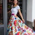 Carrie szoknya, Ruha & Divat, Szoknya, Női ruha, Varrás, Tüllből és pamutból készült elegáns szoknya., Meska