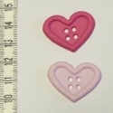 Gombcsomag - Pasztell szív, Egy pár pasztell színű, nagy méretű átvarró...