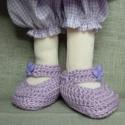 Manócipő Arenn kérésére, Egy Miához való lila cipőcske, a talpa mérete ...
