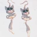 Sztoikus macskák - rendelhető!, Saját tervezésű szerelvényes füli: a cicák f...