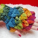 Sárkánypikkely kézmelegítő, Puha akrylfonalból készült különleges mintáj...