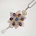 Jégvirág, Kifinomult, elegáns medál üveg levelekből, cse...