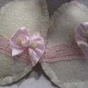 Romantikus tojás dekoráció, Dekoráció, Ünnepi dekoráció, Filcből, rózsaszín csipkével és szatén rózsával készült húsvéti romantikus dekorációs ..., Meska