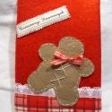 Karácsonyi finomságok Receptgyűjtő, Filcből készült, Mézes figurával díszített ...