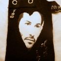 """a \"""" Zenész\"""" , Fekete filcből készült Iphon tartó, Keanu Reev..."""