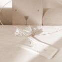 Pötty Nyúl, Fehér zsugorkából , minimalista stílusban kés...