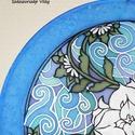 Feng Shui karrier selyem mandala kép, Dekoráció, Otthon, lakberendezés, Kép, Falikép, Ez a mandala szimbolikájában a Feng Shui világához kapcsolódik, a munka , a karrier és az embe..., Meska