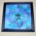 Álomvirág Selyemfestett falikép, Otthon, lakberendezés, Dekoráció, Falikép, Kép, Selyemkedéseim játékossga és álmaim virága ez az alkotás. Csodaszép kék Álomvirág. Valód..., Meska