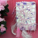 Horgolt álomfogós napló, Naptár, képeslap, album, Jegyzetfüzet, napló, Különleges, egyedi kérésre készült, ez a rózsaszínes horgolt álomfogós napló, az álmoknak, a gondola..., Meska