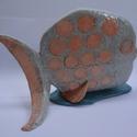 Pöttyös hal, A rózsaszín pikkelyes, ezüstszürke hal 21 cm h...