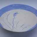 """Kerámia falitál - """"Telihold"""", Dekoráció, Otthon, lakberendezés, Dísz, Falikép, A tál a modern japán kerámiák hatását mutató darab. Máz alatti színezéssel készült, agya..., Meska"""