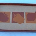 Tálca, Konyhafelszerelés, Tálca, Famegmunkálás, Tálca, alján csempével. Méretei: 31,5 X 21 cm. Oldalmagassága 3 illetve 5 cm., Meska