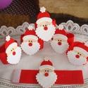 Szalvétagyűrű szett  az ünnepi vacsorához, Dekoráció, Ünnepi dekoráció, Karácsonyi, adventi apróságok, Karácsonyi dekoráció, Piros-fehér filc felhasználásával készült,csoda hangulatos szalvétagyűrű/szalvéta tartó/ ..., Meska