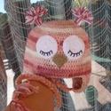 Horgolt vastag lányka sapka (54-s fejkerület), Ruha, divat, cipő, Gyerekruha, Kendő, sál, sapka, kesztyű, Gyerek (4-10 év), Horgolás, Őszi-téli napokon viselhető,kellemes mályva színű, batikolt fonalból horgolt lányka sapka.  Hideg n..., Meska