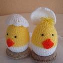 Horgolt húsvéti csibe tojás , Dekoráció, Húsvéti díszek, Ünnepi dekoráció, Horgolás, Ha húsvét akkor csibe... Ha szereted a mókás dekorációt,akkor ezt a tojás alapú csibét neked talált..., Meska