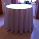 Könyöklő, Otthon, lakberendezés, Konyhafelszerelés, Lakástextil, Terítő, Varrás,  Szennytaszító damasztból készítettem a  kör alakú fehér terítőt könyöklőre, nagy méretű körasztalr..., Meska