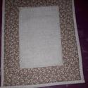 Textil tányéralátét, Konyhafelszerelés, Edényalátét, Patchwork, foltvarrás, Varrás,   Textil tányéralátét!    Pamut vászonból készült,selyembélés anyagot tettem alá és vatelinnel béle..., Meska