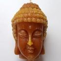 Nagy BuddhaFej gyertya, Otthon & lakás, Lakberendezés, Gyertya, mécses, gyertyatartó, Dekoráció, Képzőművészet, Nagy BuddhaFej gyertya  A Buddha gyertyák legkedveltebb színe a zöld, hisz ezzel a gazdagságot, a bő..., Meska