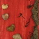 Szeretetből 2., Dekoráció, Szerelmeseknek, Férfiaknak, Kép, Újrahasznosított alapanyagból készült termékek, Falikép kavicsból A Duna medréből és partjáról gyűjtött kavicsokból készült. Natúr állapotban ragas..., Meska