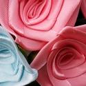 Menyasszonyi csokor selyem rózsából, Otthon, lakberendezés, Esküvő, Esküvői csokor, Mindenmás, Virágkötés, 21 szál azonos fejméretű rózsa..csipkés tüllös krepp ruhában..  a csokor zöld levelekkel készül.. a..., Meska