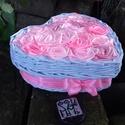 FEDBOX..rózsás fedeles  szív alakú doboz, Dekoráció, Otthon, lakberendezés, Szerelmeseknek, Fonás (csuhé, gyékény, stb.), Újrahasznosított alapanyagból készült termékek, 2:1 termék, a fedeles doboz és a rózsabox keresztezéséből jött létre :)  a doboz alapanyaga papír, ..., Meska