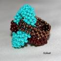 Türkiz bronzzal és csokival (gyűrű), RAW technikával készült gyűrű, türkiz, bronz...