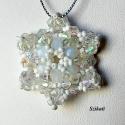 Hópehely - LEFOGLALVA Móra Erika (szilvesztEri) részére, Csillogó, szikrázó fehérség ez az opál szín...