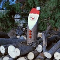 Farönk mikulás dekoráció, Dekoráció, Karácsonyi, adventi apróságok, Ünnepi dekoráció, Karácsonyi dekoráció, Akrilfestékkel festve, pompommal díszítve várják ezek a telapók az ünnepeket :) Méret: Magasság: 25-..., Meska